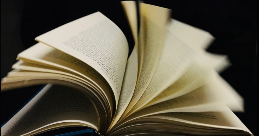 Book with furled pages