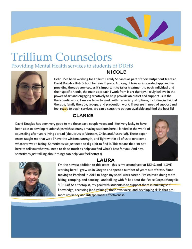 Trillium Counselors at DDHS